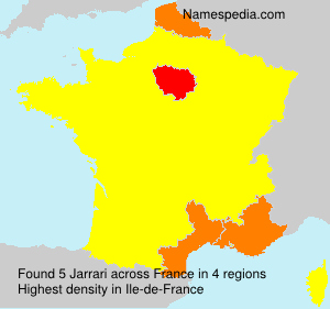 Surname Jarrari in France
