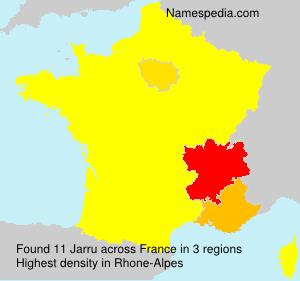 Surname Jarru in France