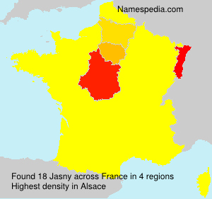 Surname Jasny in France
