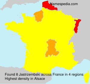 Surname Jastrzembski in France