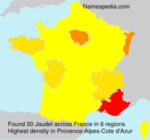 Surname Jaudel in France