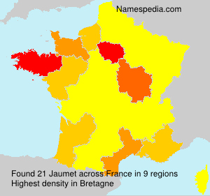 Surname Jaumet in France