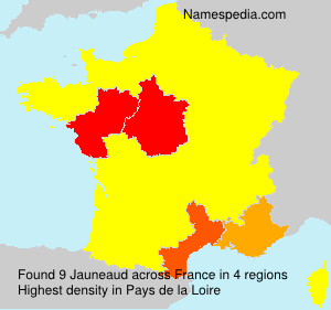 Surname Jauneaud in France