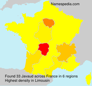 Familiennamen Javaud - France