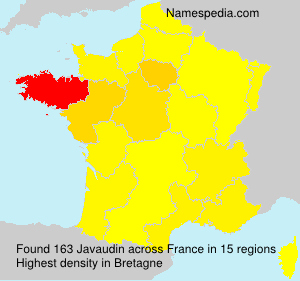 Surname Javaudin in France