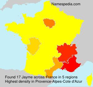 Familiennamen Jayme - France