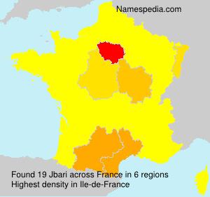 Surname Jbari in France