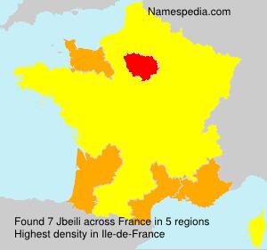 Surname Jbeili in France