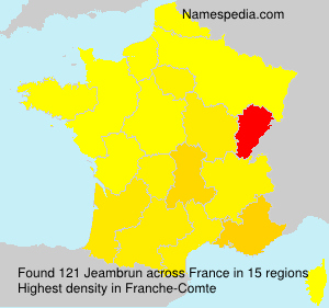 Surname Jeambrun in France