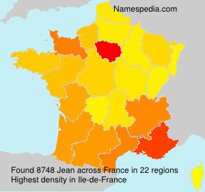 Surname Jean in France