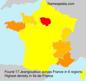 Familiennamen Jeangoudoux - France