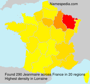 Surname Jeanmaire in France