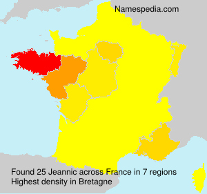 Surname Jeannic in France