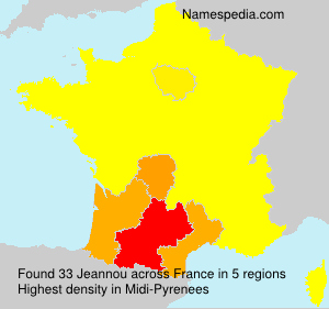 Surname Jeannou in France