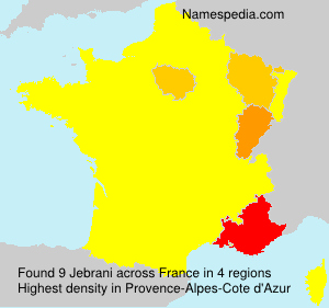 Surname Jebrani in France