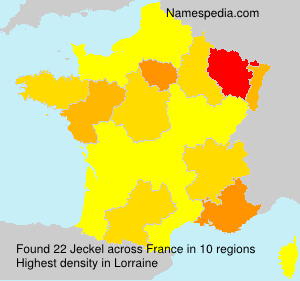 Surname Jeckel in France