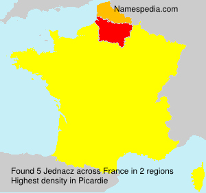 Surname Jednacz in France