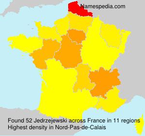 Surname Jedrzejewski in France