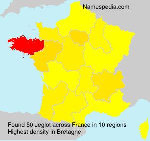 Surname Jeglot in France