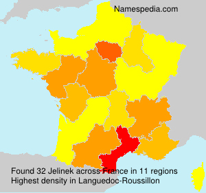 Surname Jelinek in France
