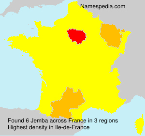 Surname Jemba in France