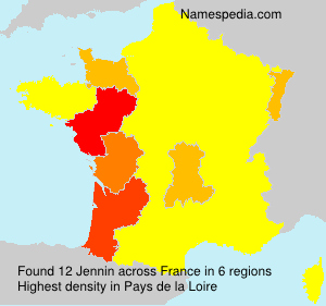 Surname Jennin in France