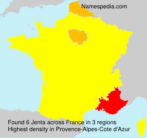 Surname Jenta in France