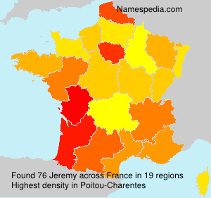 Surname Jeremy in France