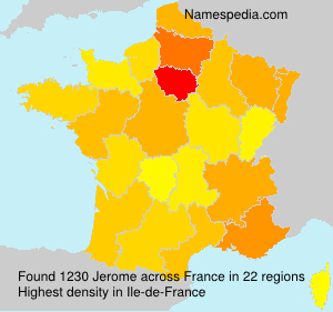 Surname Jerome in France