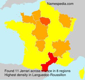 Familiennamen Jerrari - France