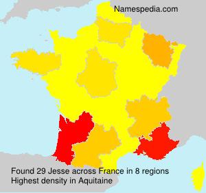 Surname Jesse in France