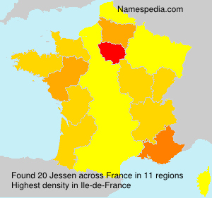 Surname Jessen in France
