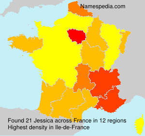Surname Jessica in France