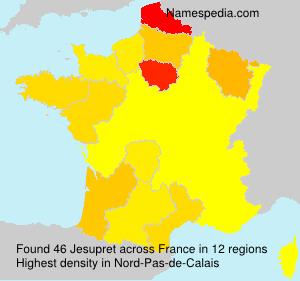 Surname Jesupret in France