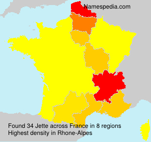 Surname Jette in France