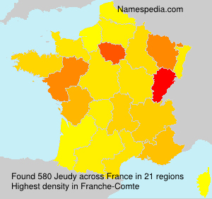 Surname Jeudy in France