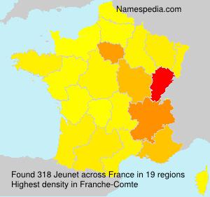 Familiennamen Jeunet - France