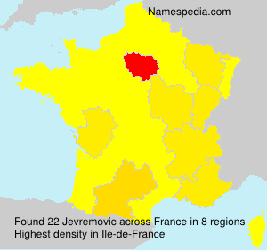Surname Jevremovic in France