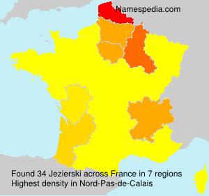 Surname Jezierski in France