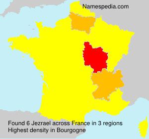 Familiennamen Jezrael - France
