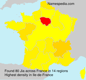Surname Jia in France