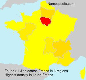 Familiennamen Jian - France