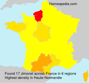 Surname Jimonet in France