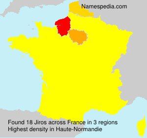Surname Jiros in France