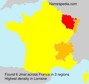 Surname Jmal in France