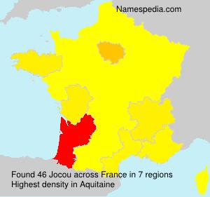 Surname Jocou in France
