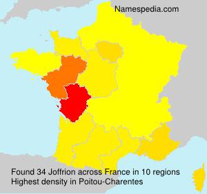 Surname Joffrion in France