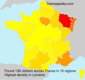 Surname Johann in France