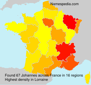 Surname Johannes in France