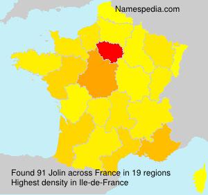Surname Jolin in France